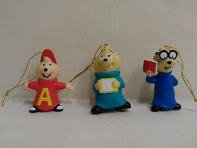 VINTAGE CHIPMUNKS ORNAMENT SET OF 3 - NEW Universal Studios gift ties
