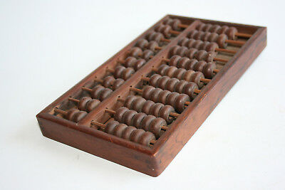 Old Chinese Wooden Hand Carved Abacus