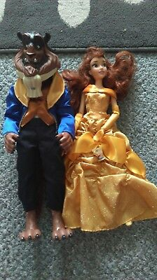 beauty and the beast disney store dolls