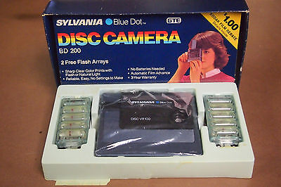 Vintage Sylvania Blue Dot Disc Camera – Disc VR100