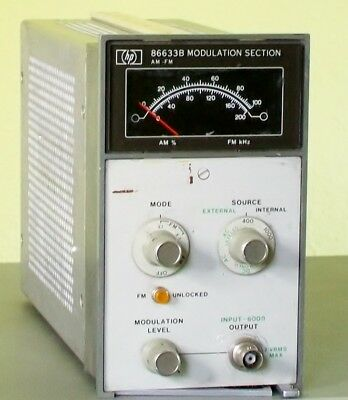 AGILENT HEWLETT PACKARD HP86633A AM/FM modulation section for HP8660A/B