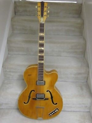 1961 Hofner Archtop Maple guitar- rare, very nice