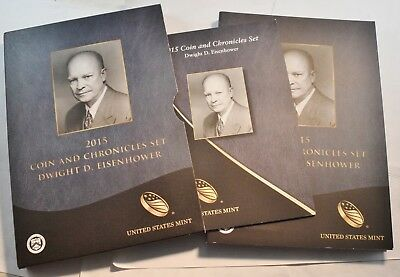 2015 Dwight Eisenhower Coin and Chronicles Set, Reverse PROOF and Silver Medal