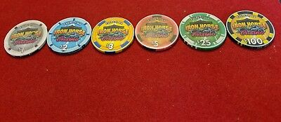 Iron Horse Casino ~ Everett, WA ~ Casino Chips ~ set of 6