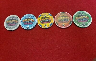 Iron Horse Casino ~ Everett, WA ~ Casino Chips ~ set of 5