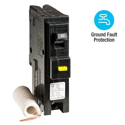 Homeline Single-Pole GFCI Circuit Breaker Plug In Electric Plug Durable