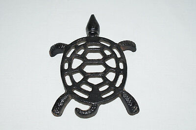 Antique Cast Iron Victorian Era Turtle Trivet