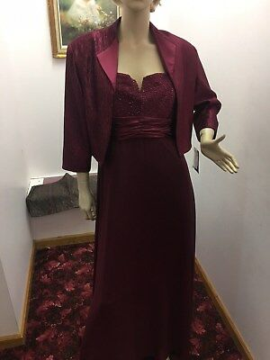 Brand New With Tags Ally's Collection Maroon 2XL Mother Of the Bride