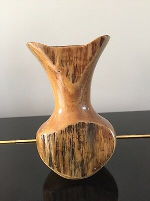 Collectible Carved Turned Mango Wood Vase Ornament Geoff Tipping 2003 Treen