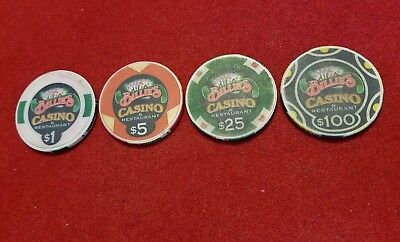 Billie's Casino & Restaurant ~ Casino Chips ~ set of 4