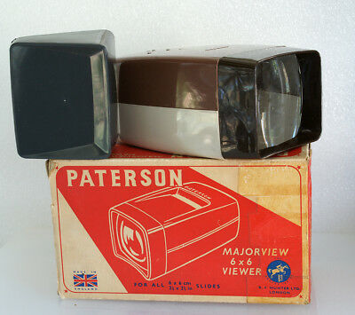 Paterson Majorview Hand Held Viewer For Medium Format Slides, Boxed, Excellent