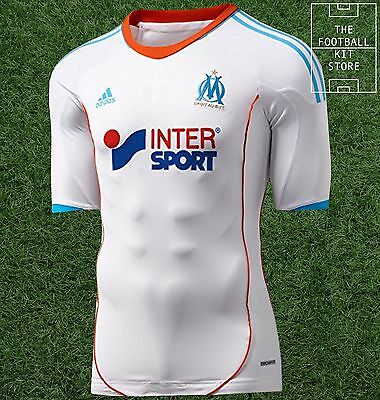 Olympique Marseille Home Shirt -Official Adidas Techfit / Player Issue - XL