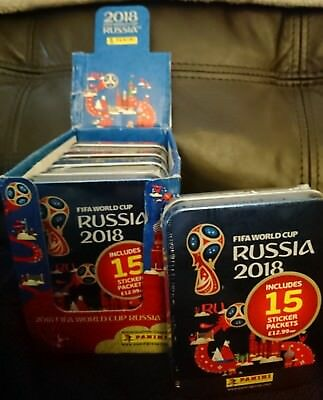 Panini Fifa World Cup Russia 2018 Collectors Mini Tins Full Display Box Of 5