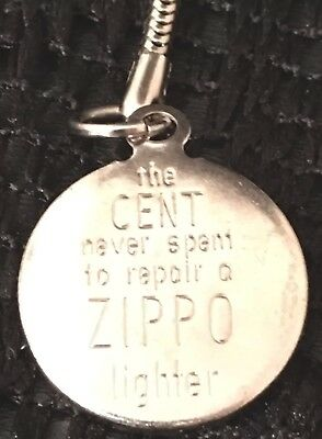 Vintage ZIPPO Lighter Advertising Key Chain 1960s  MADE IN USA