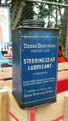 Dodge Brothers steering gear lubricant 2lb can Detroit rare nice shape vintage