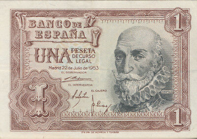 1953 Spain 1 Peseta Note **uncirculated - Pick #144** Free Shipping!