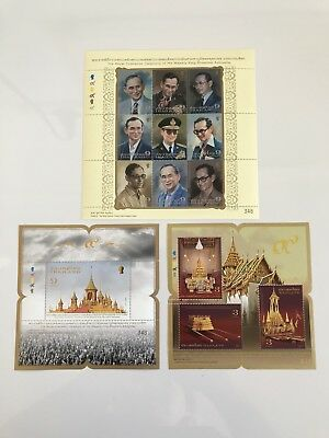 2017 Thailand Stamp - 3 Full Sheets Commemorative Cremation Of King Rama IX