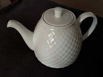 Teapot, Wedgwood Night And Day Design in White, small