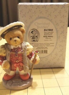 European Cherished Teddies King Henry 847860 ..Love Has Invaded This Royal Heart