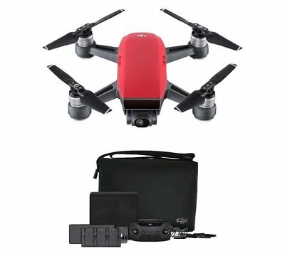 DJI Spark Drone Fly More Combo - Lava Red