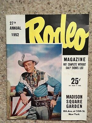 Madison Square Garden Rodeo Magazine Featuring Roy Rogers 1952 Vintage