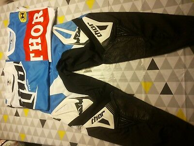 Thor Phase Combo Freeride Downhill Motocross MX 34 L gebraucht plus extra Jersey