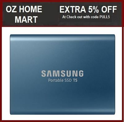 """Samsung T5 500GB 2.5"""" USB 3.1 Type C Portable External Solid State Drive SSD"""