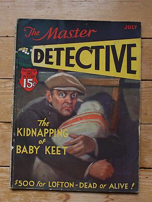 The Master Detective July 1932 Vintage American True Crime Magazine