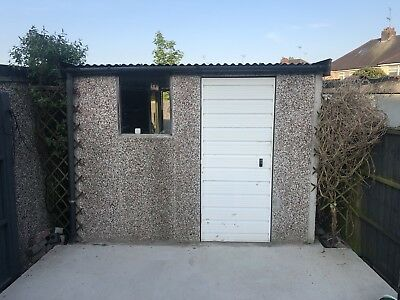 Single 20ft Concrete Sectional Garage,  Used