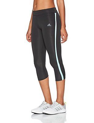 adidas Rs 3/4 Tight W, Collants Rs 3/4 Tight W Femme, Noir (Negro/Aquene), Large