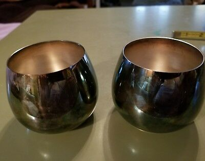 """Pair of Mid-Century WM A. Rogers Silverplated 2.5"""" Punch Cups"""