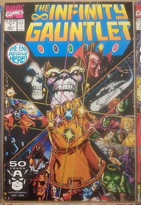 Infinity Gauntlet #1-6 & Thanos Quest #1-2 complete sets Avengers Infinity War