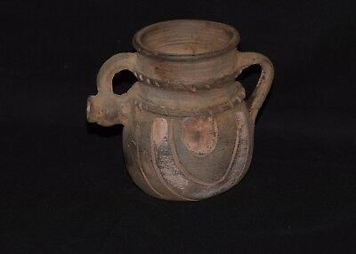 Very Rare Pottery Celtic Painted Ritual Vassel circa 800-600 BC - Museum quality