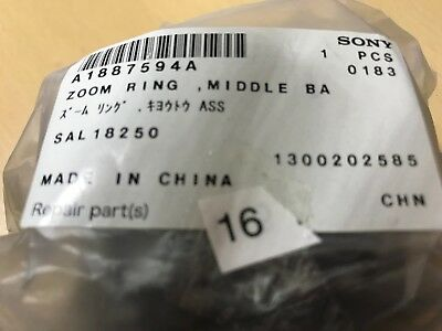 Sony A1887594A Zoom Ring Middle BarRel ASSY for Sal18250 Original Spare ParT