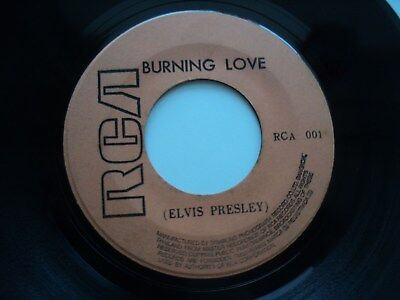 ELVIS PRESLEY / NEIL SEDAKA - Burning Love - Rare/ unknown THAILAND 45 RPM