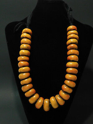 Berber Resin Beads African Ethnic Jewelry 30 Beads Necklace From Morocco
