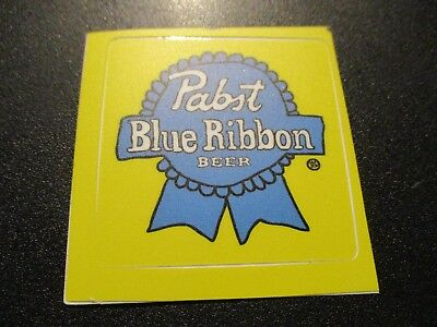 PABST BLUE RIBBON PBR ART Yellow STICKER decal craft beer brewery brewing