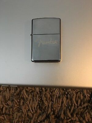 Fender Zippo Lighter Simple Chrome free shipping and handling USA