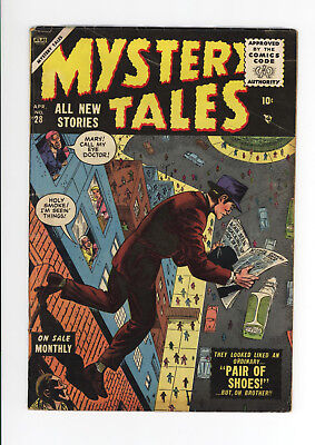Mystery Tales #28 - Very Scarce Atlas Horror! - 1955 Unrestored - Great Cover