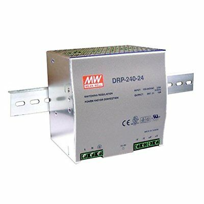 DIN-rail Source d'alimentation 240W 24V 10A; MeanWell, DRP-240–24