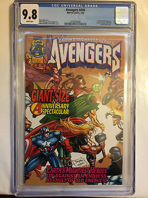 Avengers # 400 Comic CGC 9.8 400th Anniversary Wraparound Cover 6 page roll call