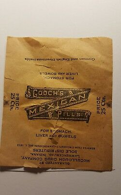 Antique GOOCH'S MEXICAN PILLS FOR STOMACH LIVER & BOWELS Advertise