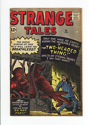 Strange Tales #95 - Scarce Early Silver Age Pre-Hero! 1962 - Two-Headed Thing!