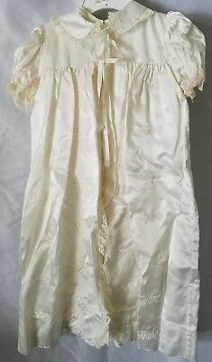Madonna By Haddad 2 Piece Ivory Baby Infant Christening Dress Gown & Coat Robe