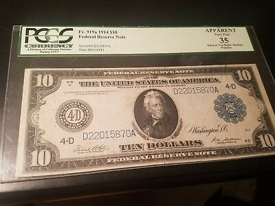 1914 $10 Bank note