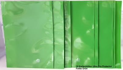Ultra Pro Deck Protector Sleeves 10 Card Green for Pokemon Yugioh Match A