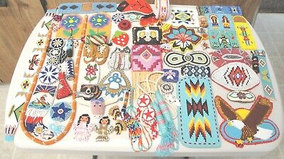 Lot Tribal  Seed Beaded Barrettes Coin Purses Doll Charms Vintage Repair Crafts