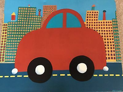 Oopsy Daisy Max Grover Canvas Art Red Car