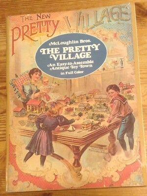 McLoughlin Bros. THE PRETTY VILLAGE An Easy-to-Assemble Antique Toy Town (1980)