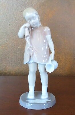 Bing & Grondahl B&G #2246 Figurine Spilled Milk Girl in RARE Pink Dress
